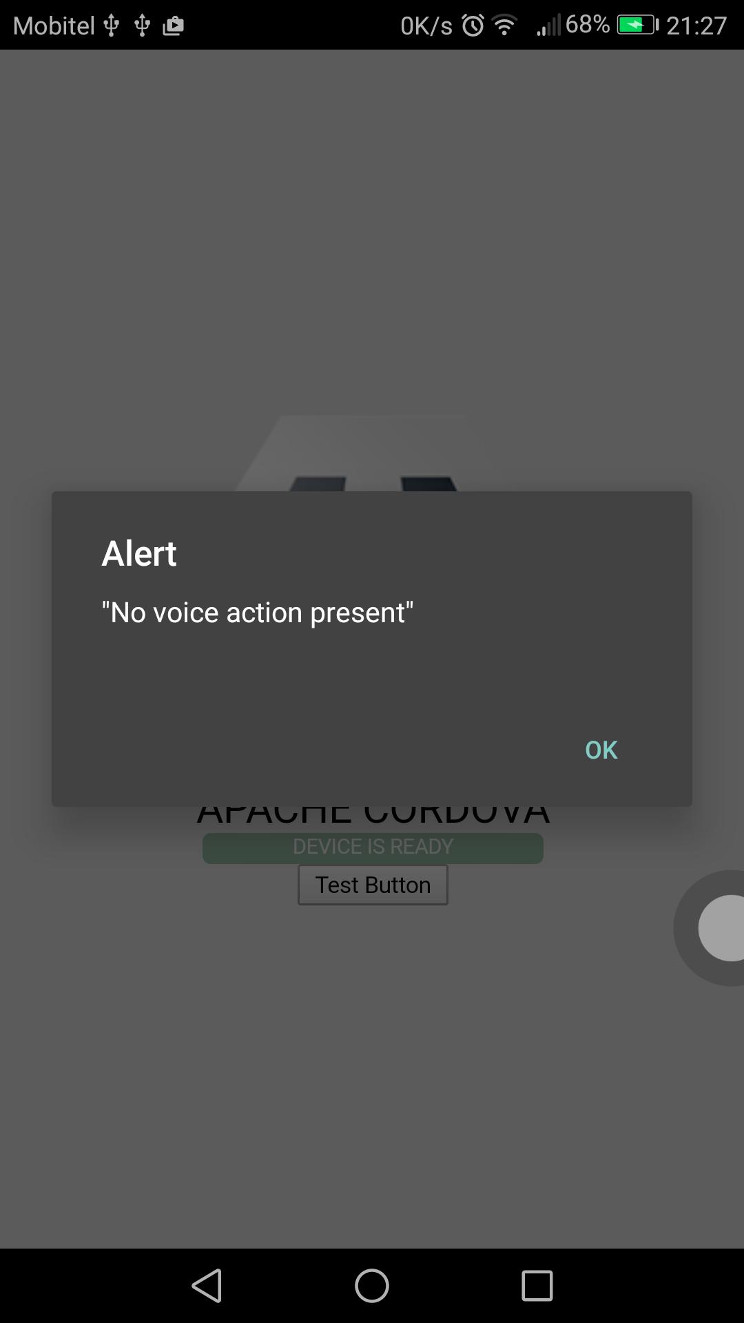 Ok Cordova, First voice controlled Cordova App – Bhanuka
